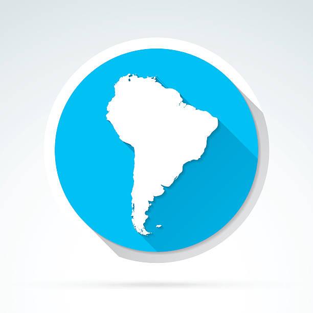 une carte de l'Amérique du sud